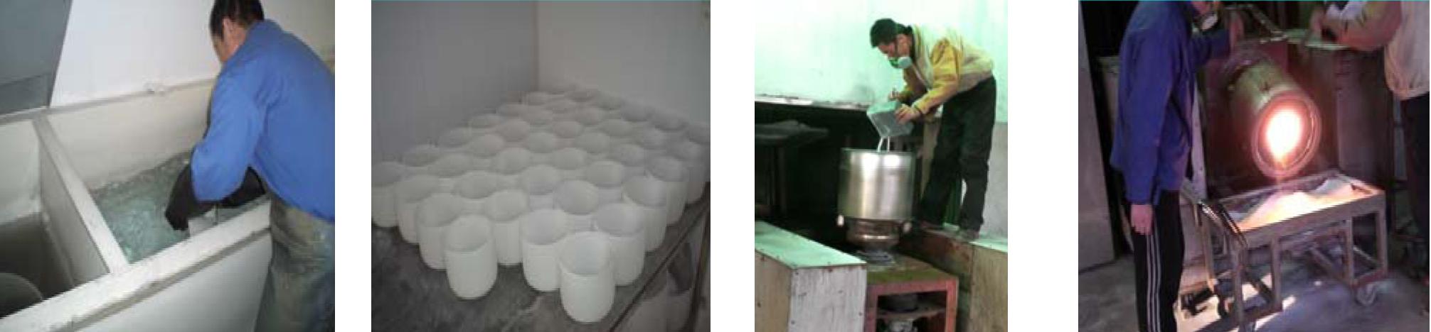 fabrication des bols en cristal
